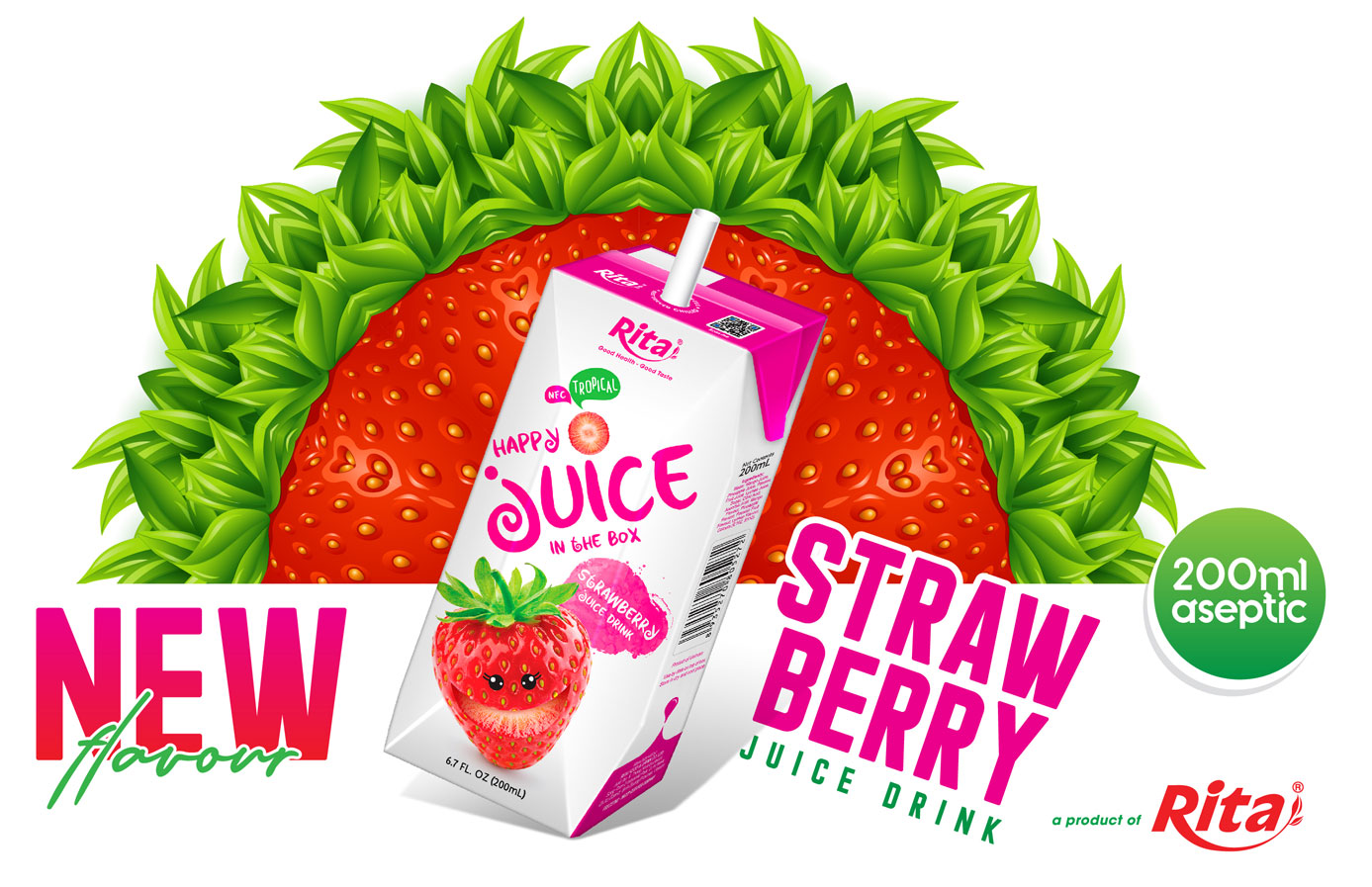 Poster strawberry drink