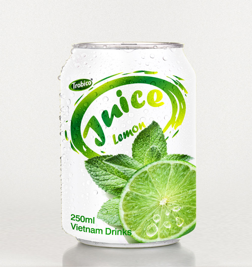 Lemon juice 250ml short canned
