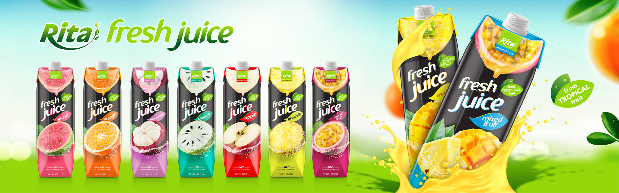 Banner Rita fresh juice