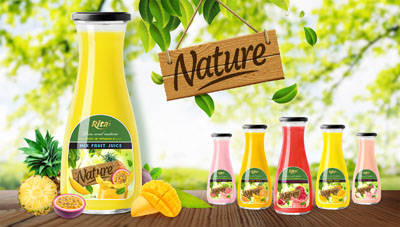 Natural fruit juice of RITA beverage