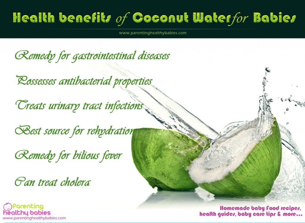 Health Benefits of Coconut Water for Babies Infographic 1024x750