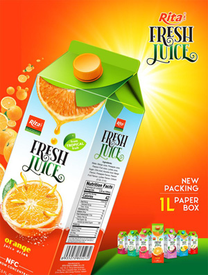 Fresh juice 1L paper Box
