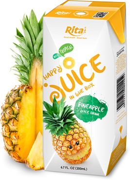 fresh juice pineapple in paper box 200ml