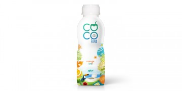 100 Coconut water fresh with orange