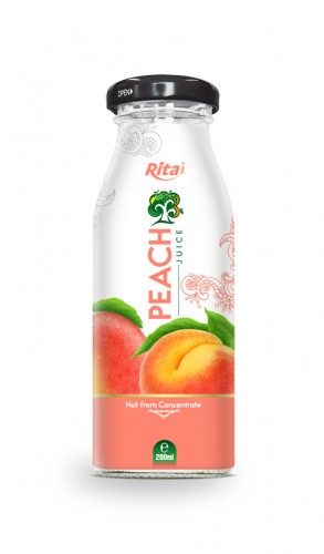 200ml Glass bottle Peach Juice