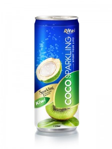 250m Alu Can Kiwi Flavour Sparkling Coconut Water
