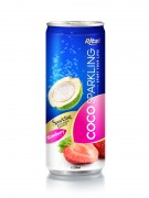 250m Alu Can Strawberry Flavour Sparkling Coconut Water