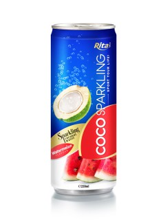 250m Alu Can Watermelon Flavour Sparkling Coconut Water