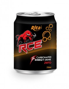 250ml Carbonated energy drink RCE zero
