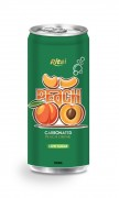 250ml carbonated peach drink low sugar