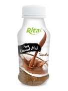 250ml PP bottle Pure Coconut Milk with Chocolate