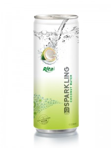 250ml Slim Alu Can Sparkling Coconut Water 2