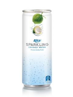250ml Slim Alu Can Sparkling Coconut Water 3