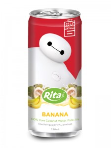250ml Slim Can Banana Flavored  Coconut Water