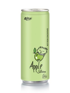 250ml aluminum can Apple Juice