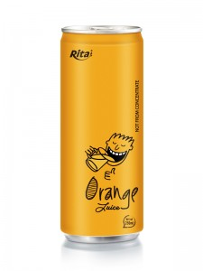 250ml aluminum can Orange Juice