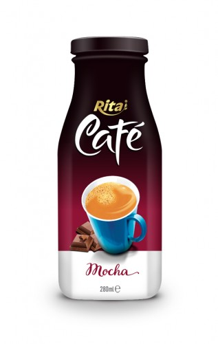 280ml Glass bottle Mocha Coffee