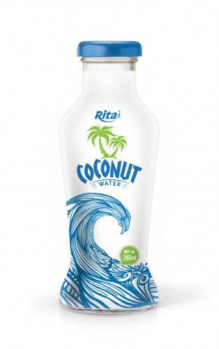 280ml Glass bottle Pure Coconut Water