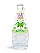 290ml Glass Bottle Kiwi Flavour Sparkling Coconut Water with Pulp