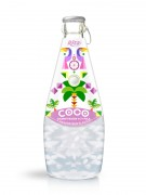 290ml Glass Bottle Mangosteen Flavour Sparkling Coconut Water with Pulp