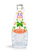 290ml Glass Bottle Orange Flavour Sparkling Coconut Water with Pulp