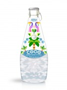 290ml Glass Bottle Original Sparkling Coconut Water with Pulp
