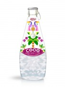 290ml Glass Bottle Passion Flavour Sparkling Coconut Water with Pulp