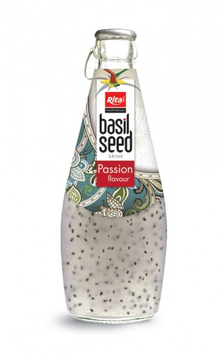 290ml basil seed drink with Passion