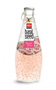 290ml basil seed drink with Peach