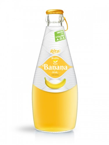 290ml glass bottle Banana drink