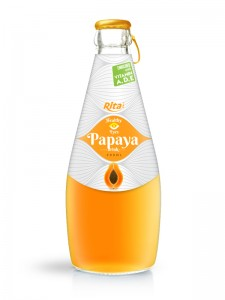 290ml glass bottle Papaya drink