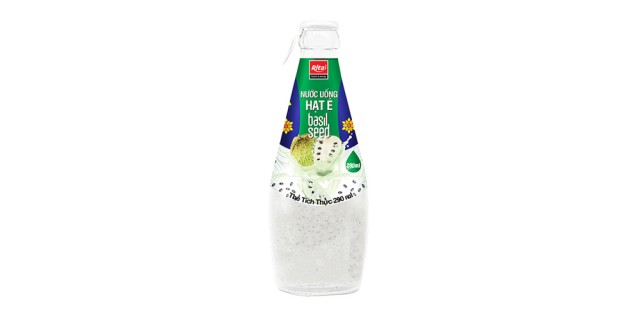 290ml glass bottle basil seed soursop juice