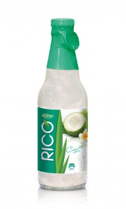 300ml Coconut water in Glass bottle