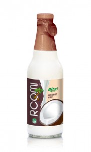 300ml Coconut water with milk Glass bottle