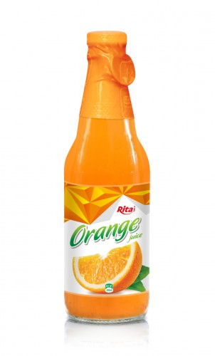 300ml Orange Juice Glass bottle