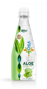 300ml Pet bottle Chia seed with aloe vera