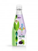 300ml Pet bottle Grape flavor Chia seed with aloe vera