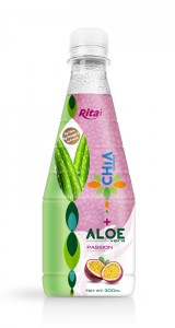 300ml Pet bottle Passion flavor Chia seed with aloe vera
