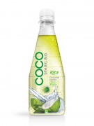 300ml pet Bottle Lemon  Mint flavor Sparking Coconut water