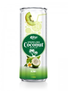 320m Alu Can Kiwi Flavour Sparkling Coconut Water