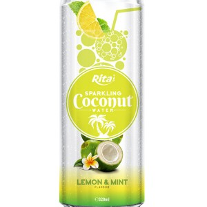 320m Alu Can Lemon & Mint Flavour Sparkling Coconut Water