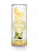 320m Alu Can Pineapple Flavour Sparkling Coconut Water