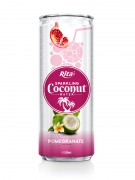 320m Alu Can Pomegrante Flavour Sparkling Coconut Water