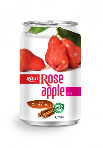 330ml Rose Apple juice with Cinnamon in Alu can