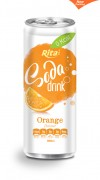 330ml Soda drink Orange Flavour 2