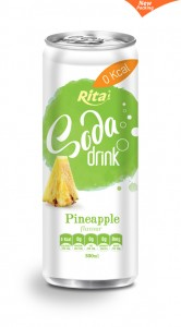 330ml Soda drink Pineapple Flavour 2