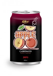 330ml carbonated apple drink