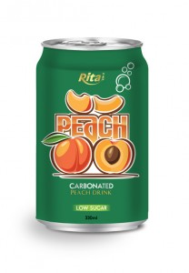 330ml carbonated peach drink low sugar