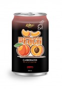 330ml carbonated peach drink
