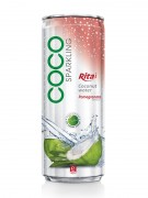 330ml alu can Pomegranate flavor with sparking coconut water